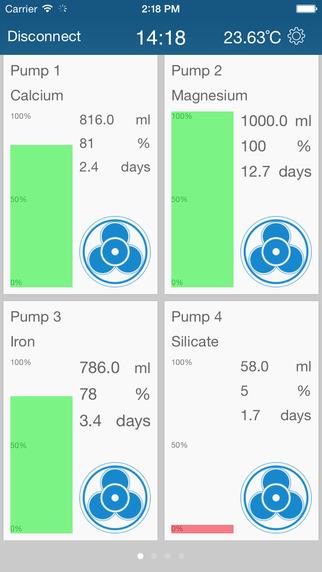 GHL Control App Pumps