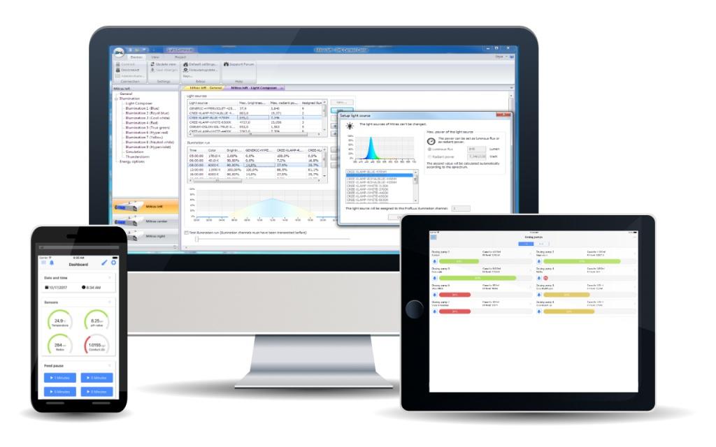 Mit GHL Software und Apps haben Sie immer Zugriff auf Ihre GHL Geräte