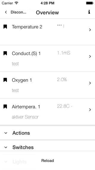 ProfiLux App Sensors