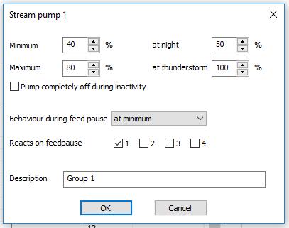 Pump setting