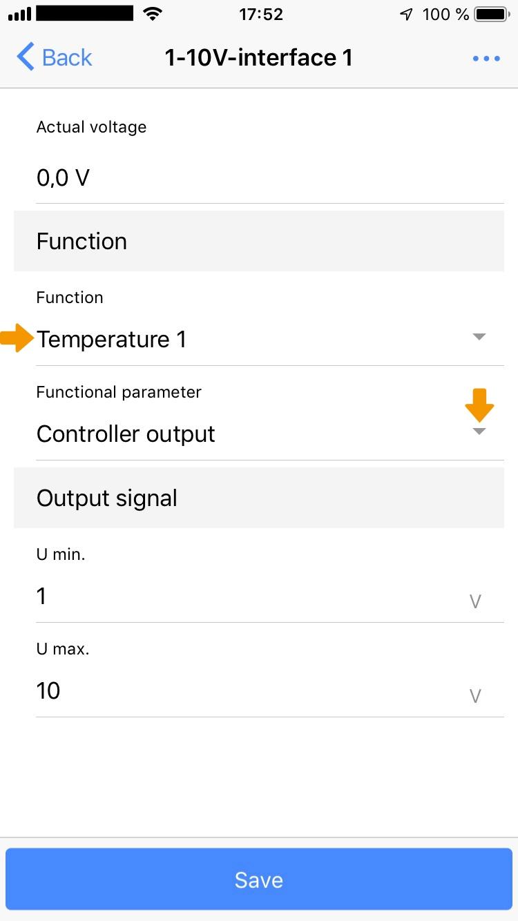 Assign controller output